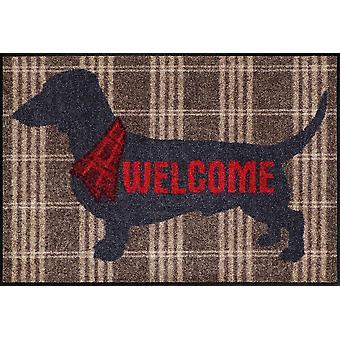 Salon Leeuw deur mat Welkom hond 50 x 75 cm door Salon Leeuw wasbaar Vloermatten