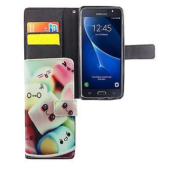 Caso di copertura del telefono cellulare per mobile Samsung Galaxy J5 Prime lettering caramelle gommosa e molle