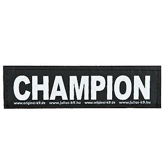 Julius K9 Velcro Aufkleber Champion