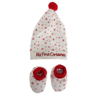 Nursery Time Christmas Hat And Bootie Set