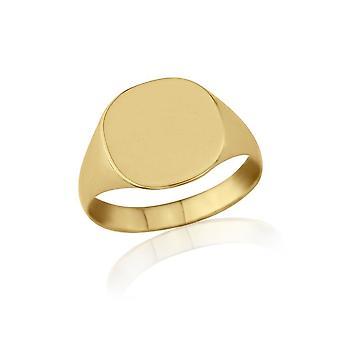 Stjärniga bröllop ringar Kudde-formade 9ct Yellow Gold lätta vikt signetring