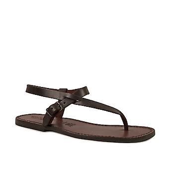 Sandali fatti a mano in pelle marrone per gli uomini