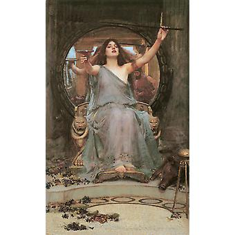 Circe offering the Cup to, John William Waterhouse, 40x60cm with tray