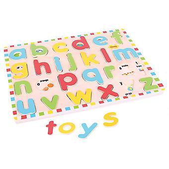 Bigjigs Toys Inset Puzzle Kleinbuchstaben-Alphabet