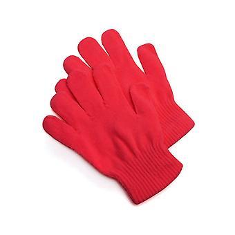 Handschoenen gebreide handschoenen rood