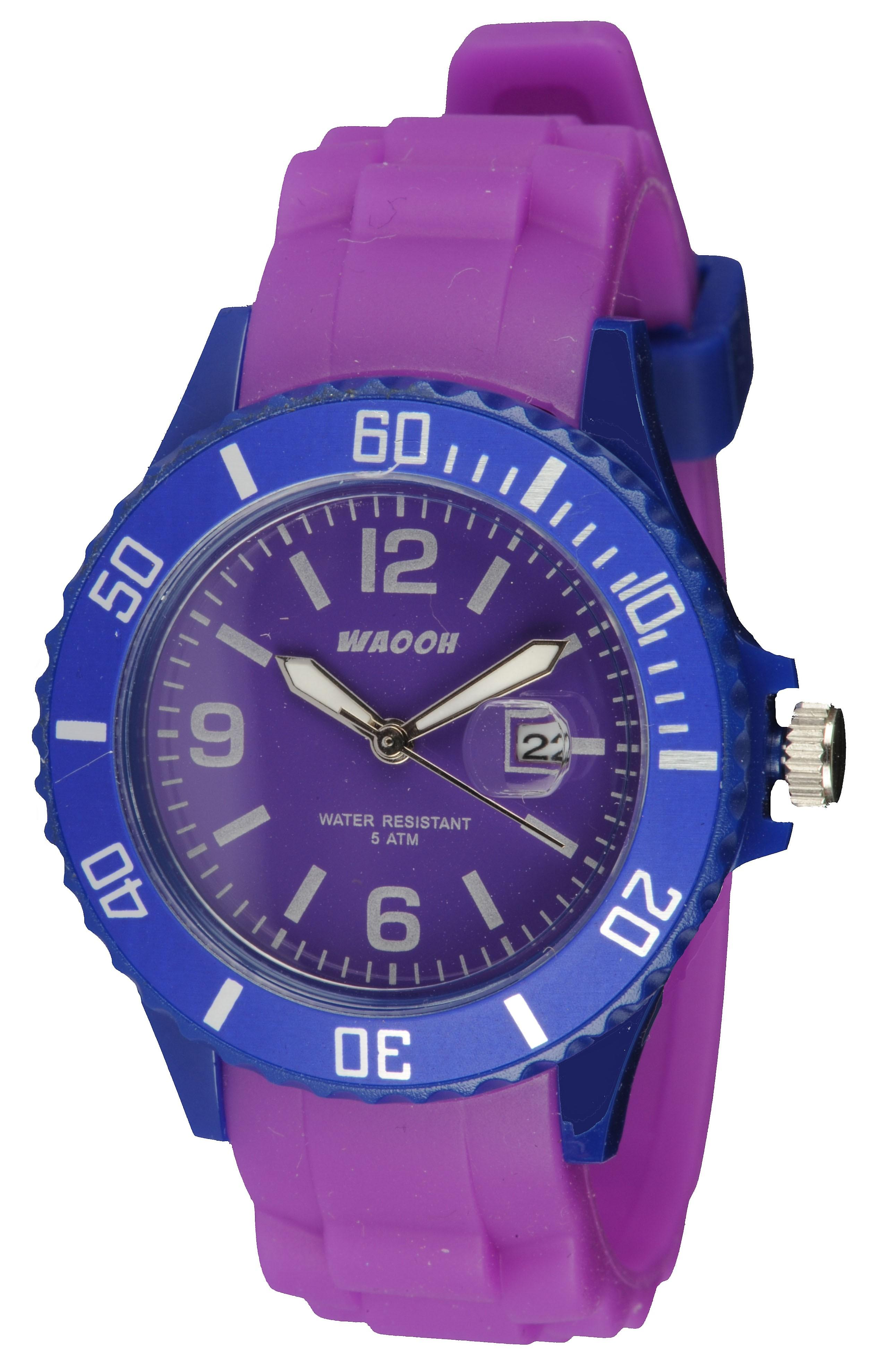 Waooh - Watch Monaco34 - bicolor & blauw