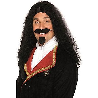 الأسود الطويل مجعد شعر مستعار، شعر مستعار الفارس، ملابس تنكرية الملحقات