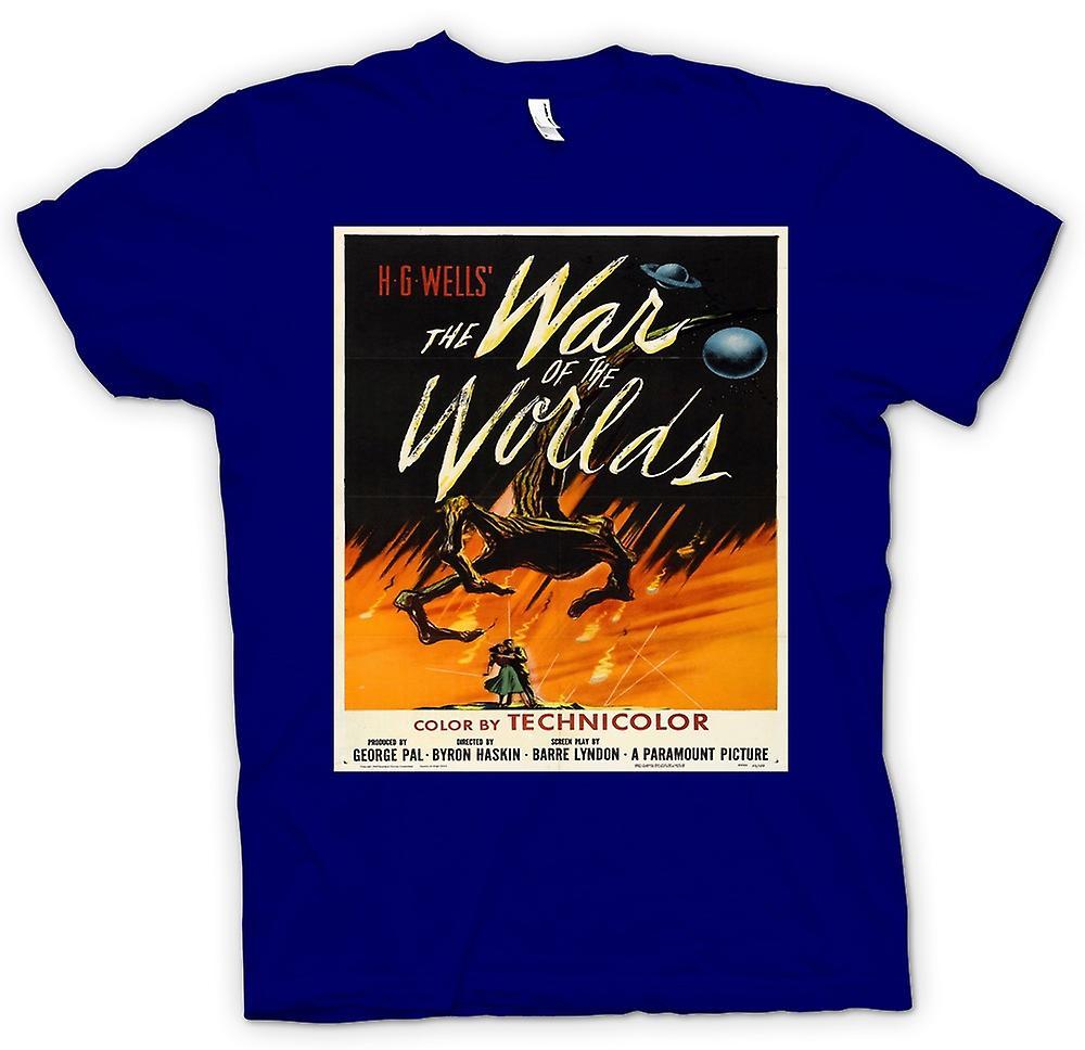 Heren T-shirt-oorlog van de werelden - H G Wells - Poster