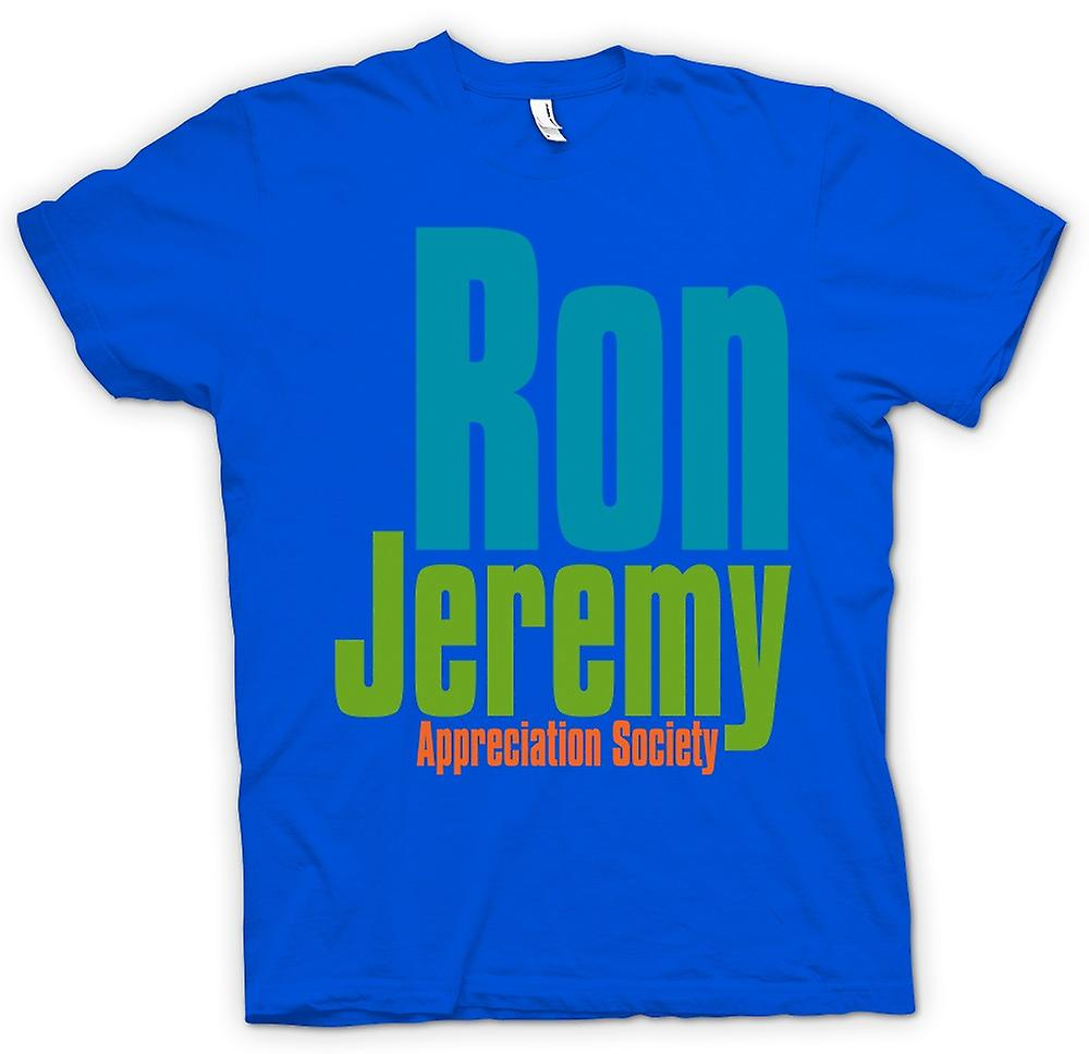Herr T-shirt - Ron Jeremy Appreciation Society - Funny
