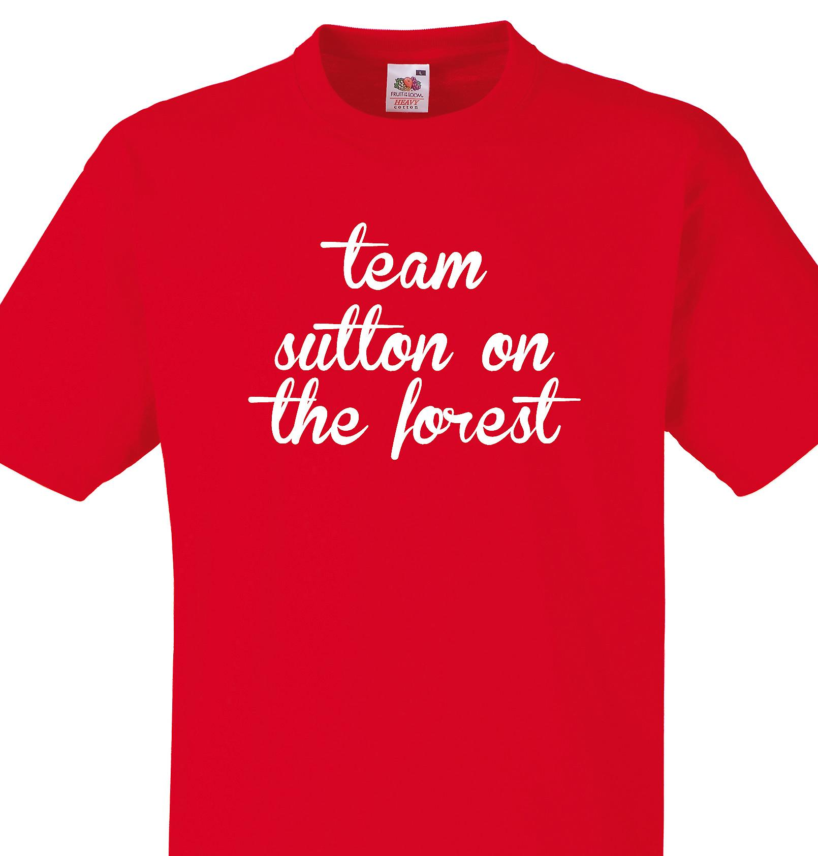 Team Sutton on the forest Red T shirt
