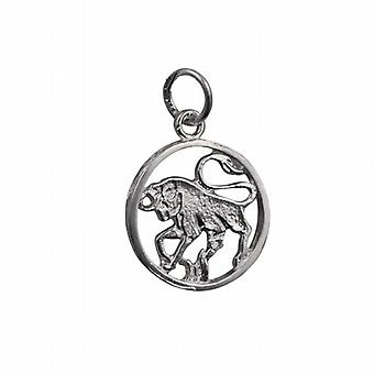 Silver 11mm genomborrade Taurus Zodiac pendel