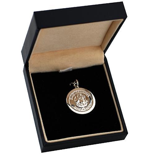 Silver 22mm round Zodiac disc Sagittarius