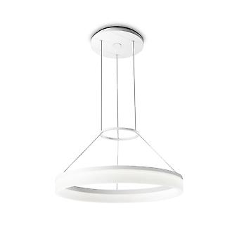 Circ White Small One-Tiered LED Standard Ring Pendant - Grok 00-0001-BW-M3