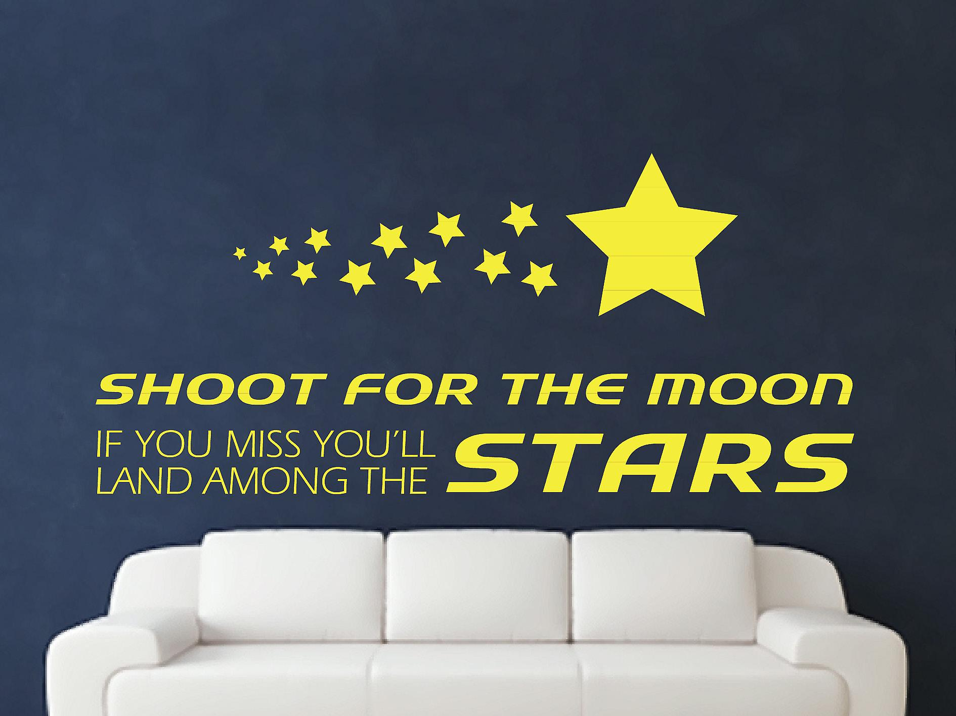 Shoot For The Moon Wall Art Sticker - Sulphur