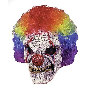 Clown Mask With Wig For Halloween