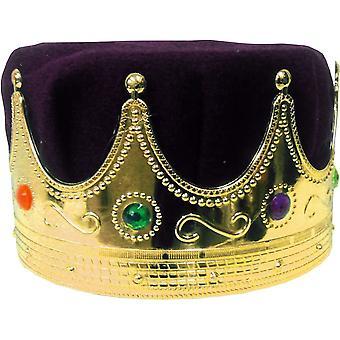 皇冠国王与紫色头巾为所有人