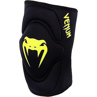 Venum Kontact Gel MMA BJJ Slip On Knee Pad - Black / Neo Yellow