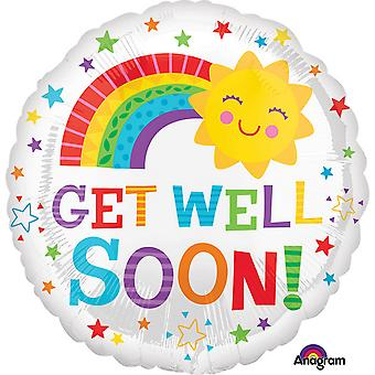 Anagram 18 Inch Get Well Soon Happy Sun Circle Foil Balloon