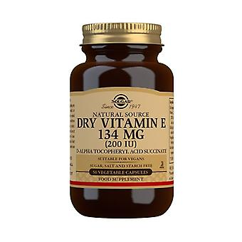 Solgar Vitamin E 134mg (200iu) Dry Vegicaps 50 (3380)