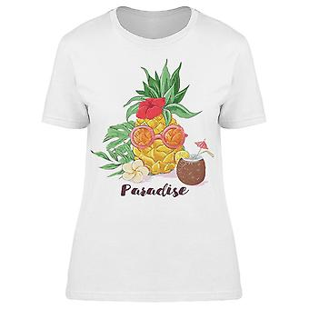 Cocktail Tropical Fruits Tee Women's -Image by Shutterstock