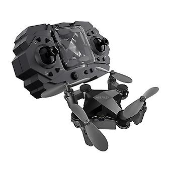 Folding mini drone four axis aerial photography aircraft toy black standard