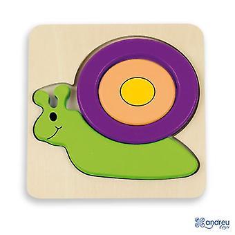 Andreu Toys Of x Puzzle dla dzieci - Ślimak