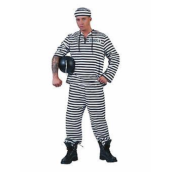 Costume del detenuto del prigioniero uomo Knasti Prigione Fratello Men Costume