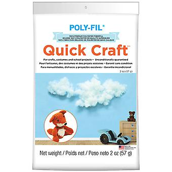 Quickcraft Fiber Fill 2Oz White Pf2qc