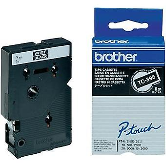 Labelling tape Brother TC-395 Tape colour: Black