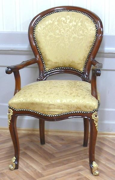 baroque armchair carved Louis XV MoBd0762Luster1