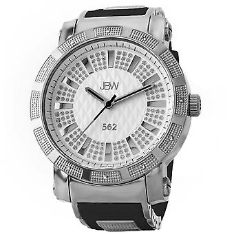 JBW diamond men's stainless steel watch 562 - silver