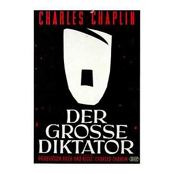 Den store diktator film plakat (11 x 17)