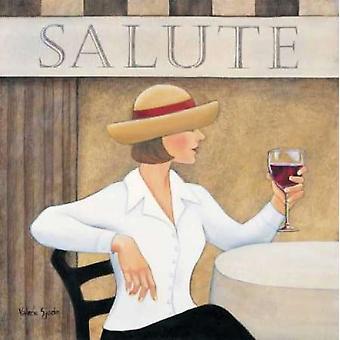 Hils jeg Poster trykk av Valerie Sjodin