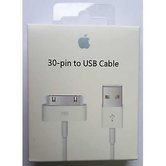 Original blister 30pin manzana MA591G/C iPhone cargador y datos cablegrafían 100 cm, 4 / 4 S iPod iPad