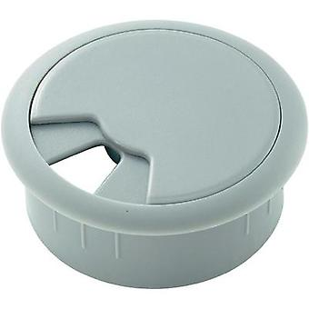 Cable grommet for worktops Acrylonitrile butadiene styrene Grey Conrad Components 522829 1 pc(s)