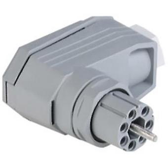 Mains connector ATT.LOV.SERIES_POWERCONNECTORS N Socket, right angle Total number of pins: 11 + PE 5 A Grey Hirschmann