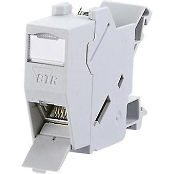 Network outlet DIN rail CAT 6 Metz Connect 1309426003-E Light grey (RAL 7035)