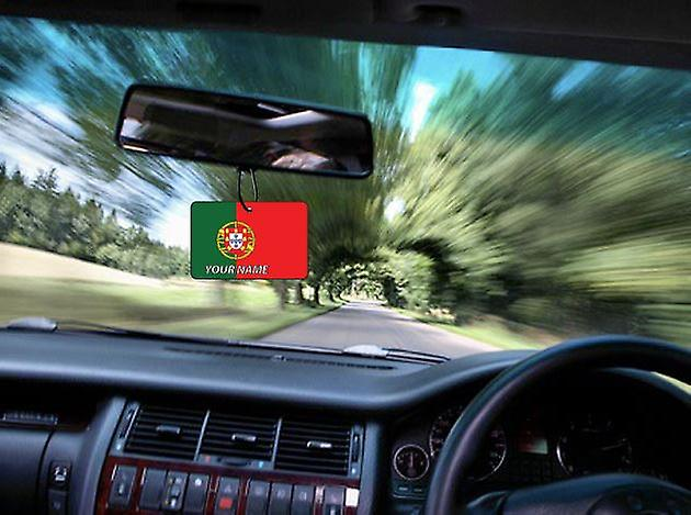 Portugal Flag Personalised Car Air Freshener