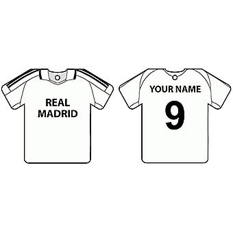 Personalised Real Madrid Football Shirt Car Air Freshener