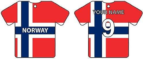 Personalised Norway Flag Jersey Car Air Freshener