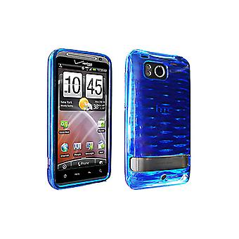 OEM Verizon High Gloss Silicone Case for HTC Thunderbolt 6400 (Blue) (Bulk Packa