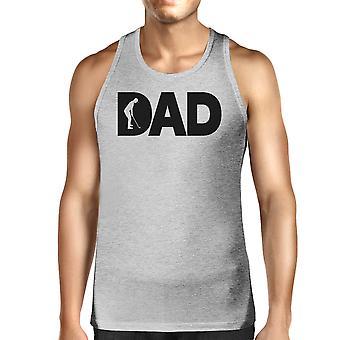 Папа гольф мужская серая футболка без рукавов забавный дизайн танк для любителей гольфа