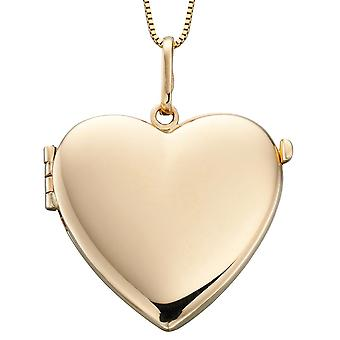 9 ct Gold Necklace Heart Photo