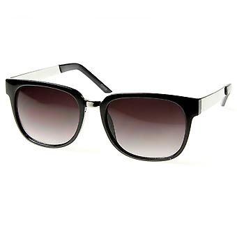 Designer Inspired Horn Rimmed Style Sunglasses with Metal Arms