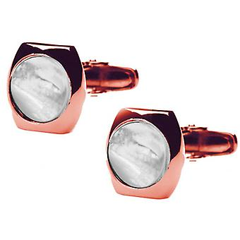 Denisonboston Skimm Classic Mutter von Pearl Manschettenknöpfe - Rose Gold
