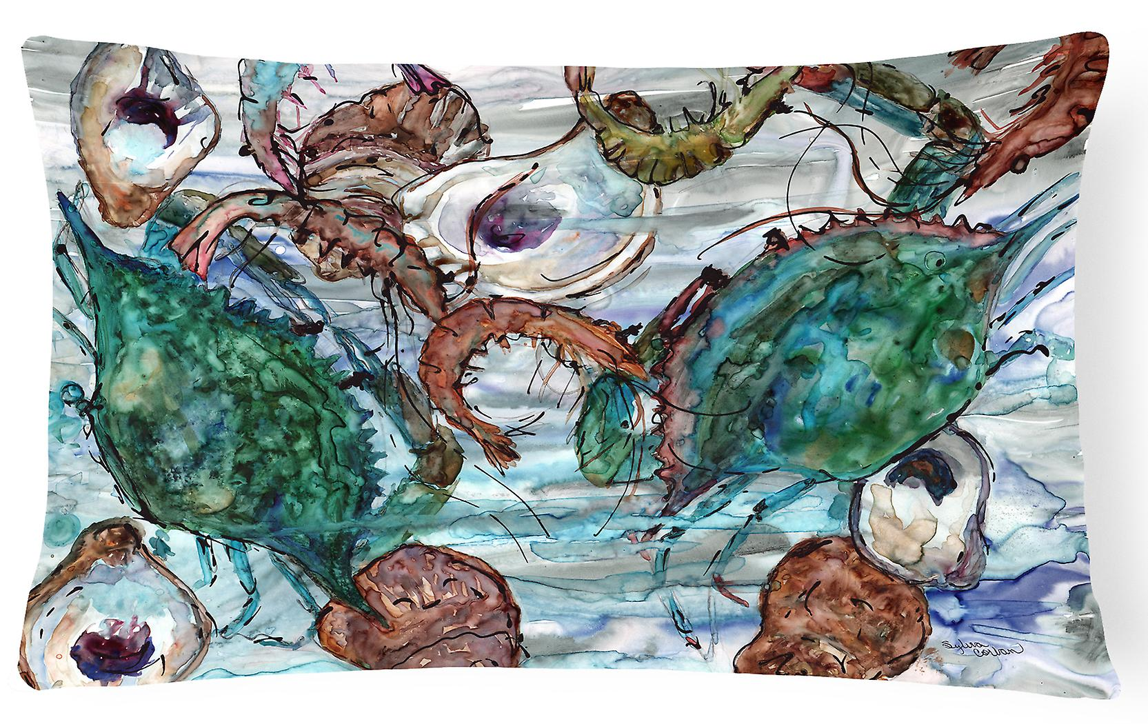 Huîtres Tissu Oreiller Et En CrevettesLes Crabes Eau Décoratif rBoedWCxQ