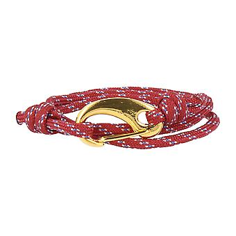 Vikings bracelet red lobster clasp gold