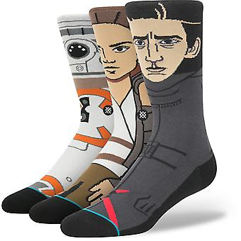 Attitude Star Wars : The Force se réveille 3 Pack Crew Socks