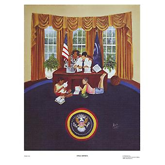 Oval Office Poster Print von Annie Lee (13 x 17)