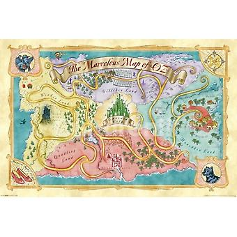 Wizard Of Oz Map Poster Poster Print